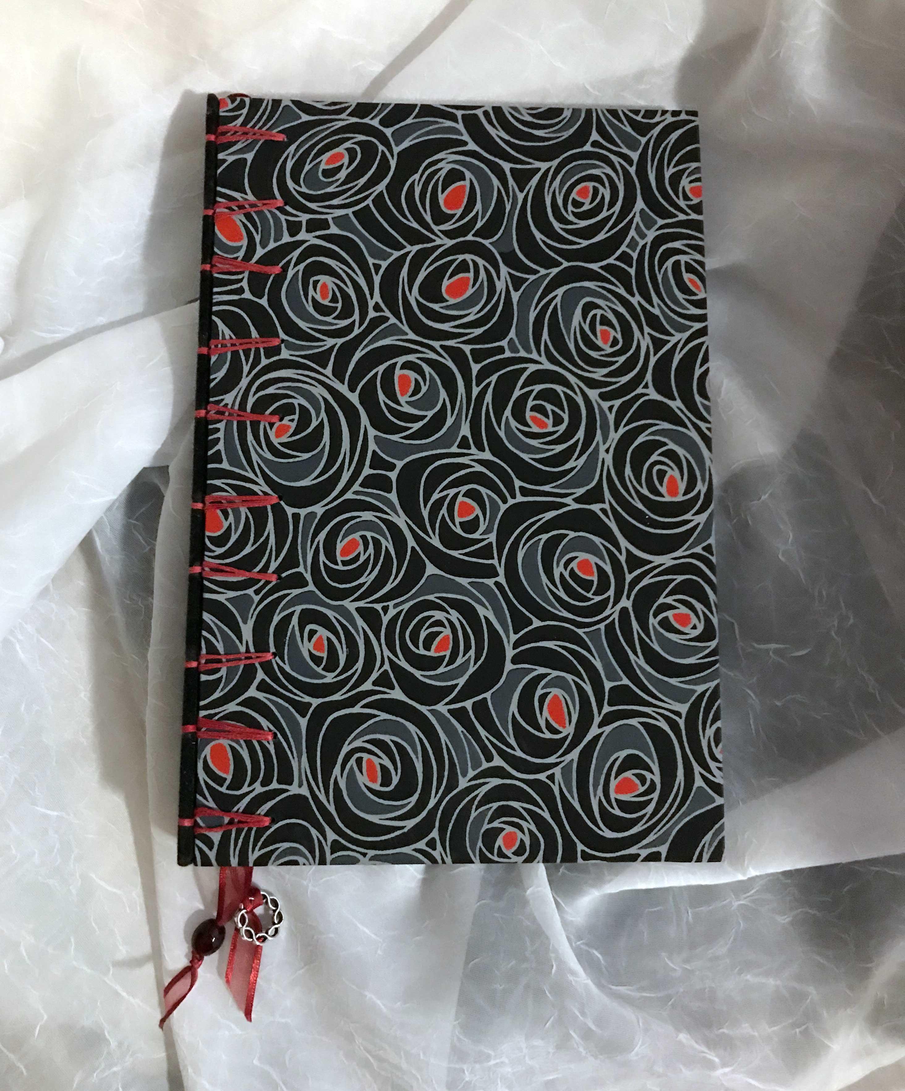 """Secret Belgium"" binding - Black and Red $65"
