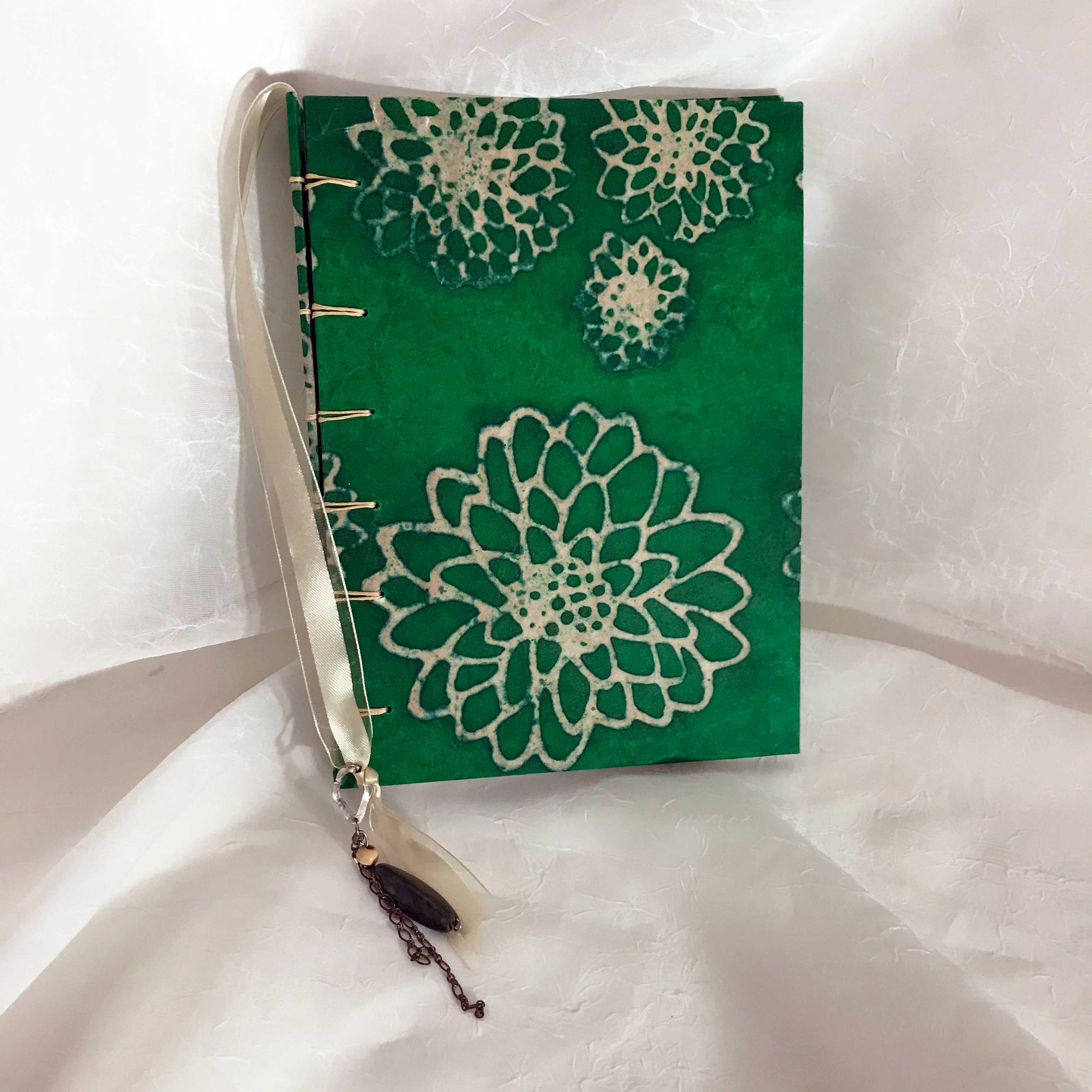 Green floral Secret Belgium binding book. $35